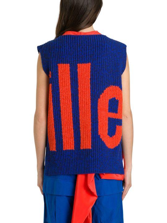 Colville Sleeveless Pull With Intarsia Logo