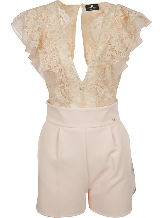 Elisabetta Franchi Celyn B. Elisabetta Franchi For Celyn B. Laced Top Jumpsuit
