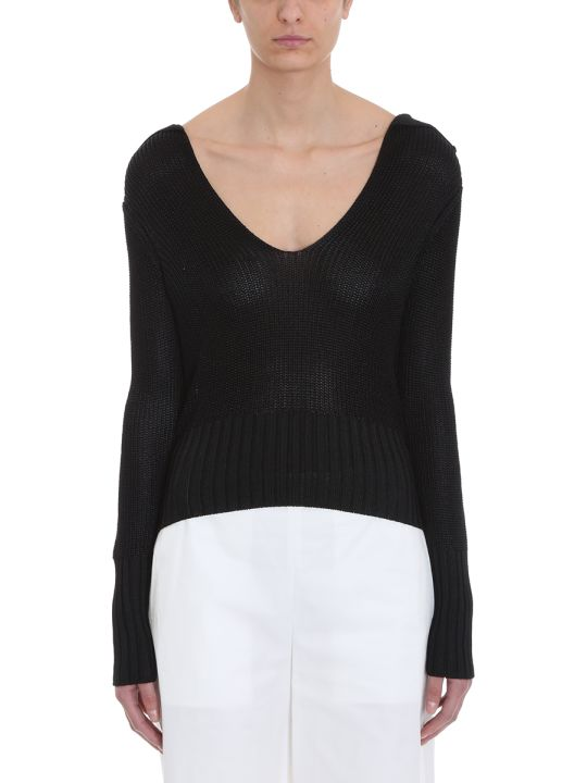 Theory Back Collar Black Cotton