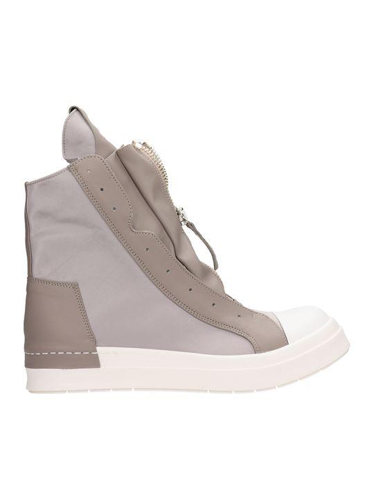 Cinzia Araia Beige Leather High Top Sneakers