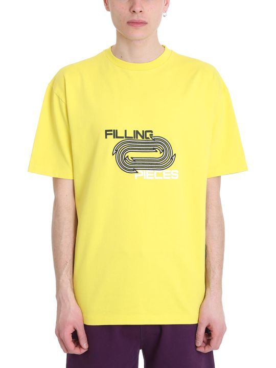 Filling Pieces Yellow Cotton T-shirt