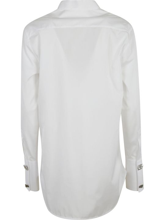 Ermanno Scervino Crystal-buttoned Shirt