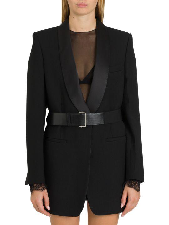 Philosophy di Lorenzo Serafini Tuxedo Blazer With Letaher Belt