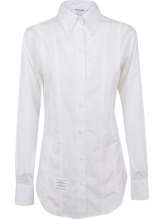 Thom Browne Lace-up Back Long Sleeve Shirt