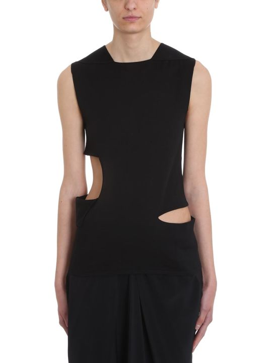 Rick Owens Cut Out Black Top