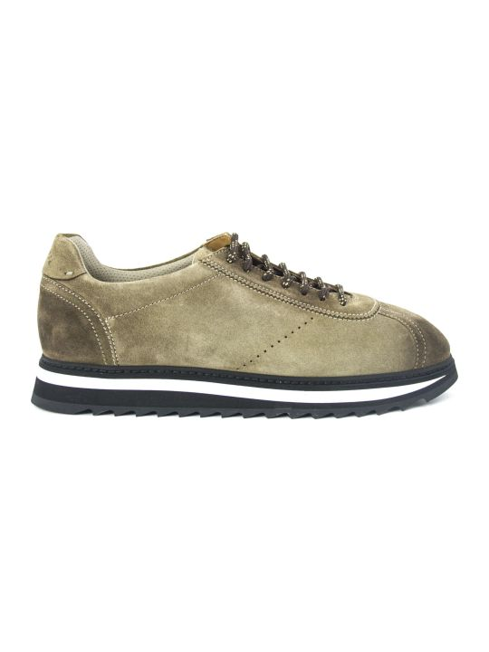 Doucal's Sneakers In Tobacco Suede
