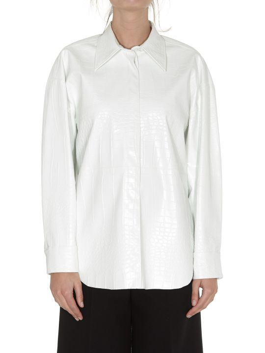 MSGM Leather Effect Shirt