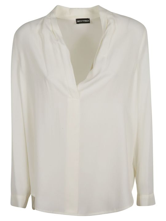 Emporio Armani Button-less Placket Shirt