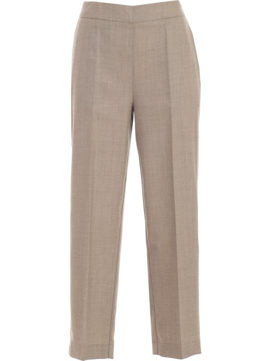 SEMICOUTURE Pants Cropped W/elastic Behind