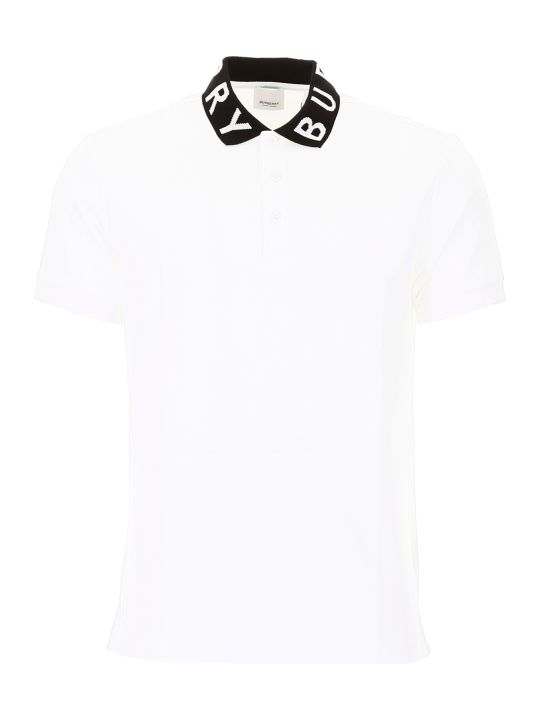 Burberry Bicolor Ryland Abata Polo Shirt