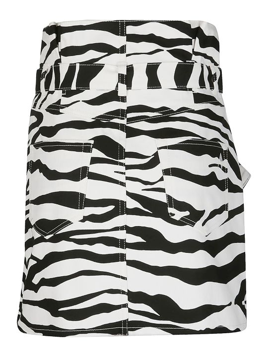 The Attico Black And White Mini Skirt