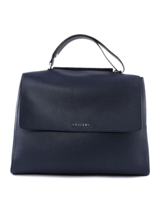 Orciani Navy Leather Sveva Bag