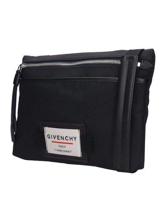 Givenchy Downtown-flat  Waist Bag In Black Nylon