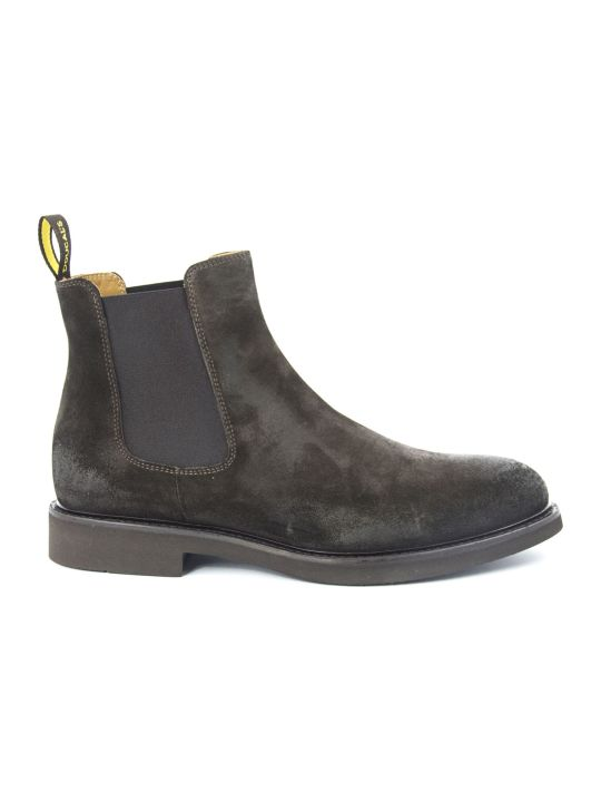 Doucal's Brown Suede Ankle Boots