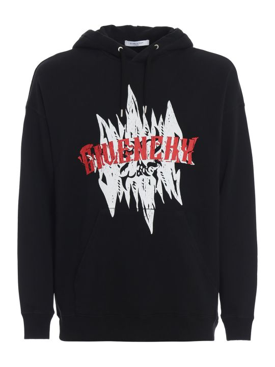 Givenchy Logo Graphic Print Hoodie