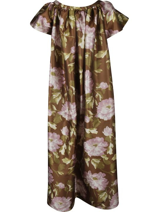 Rochas Floral Print Long Dress