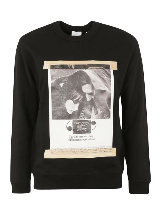 Burberry Ad Print Sweatshirt