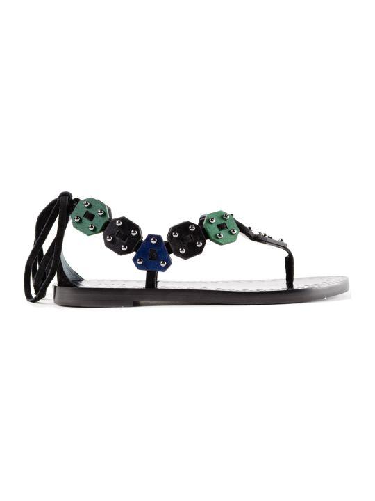 Alaia Flat Thong Sandals