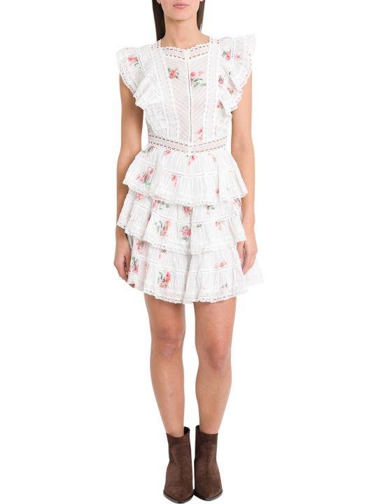 Zimmermann Floral Print Dress With Flounces
