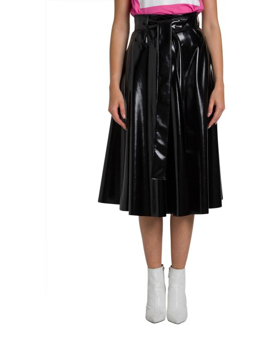 MSGM Vynil Skirt With Belt
