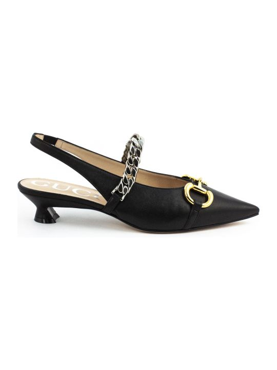 Gucci Black Leather Pump