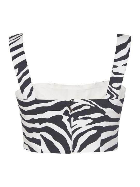 Dolce & Gabbana Zebra Print Cropped Top