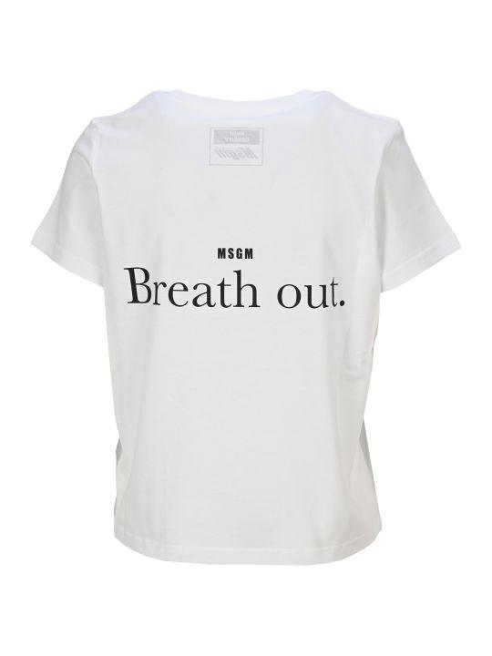 MSGM Breath In - Breath Out T-shirt