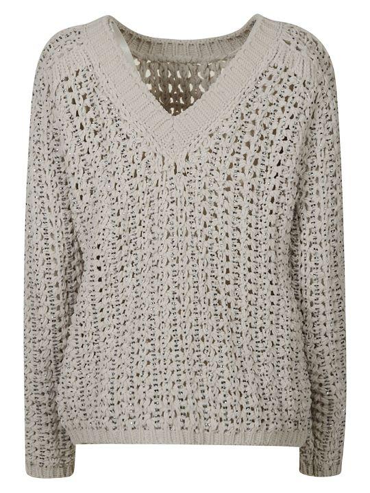 Ermanno Scervino V-neck Knitted Sweatshirt