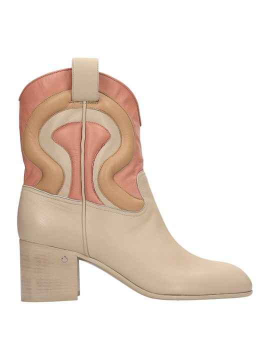 Laurence Dacade Tiago Beige Leather Ankle Boots