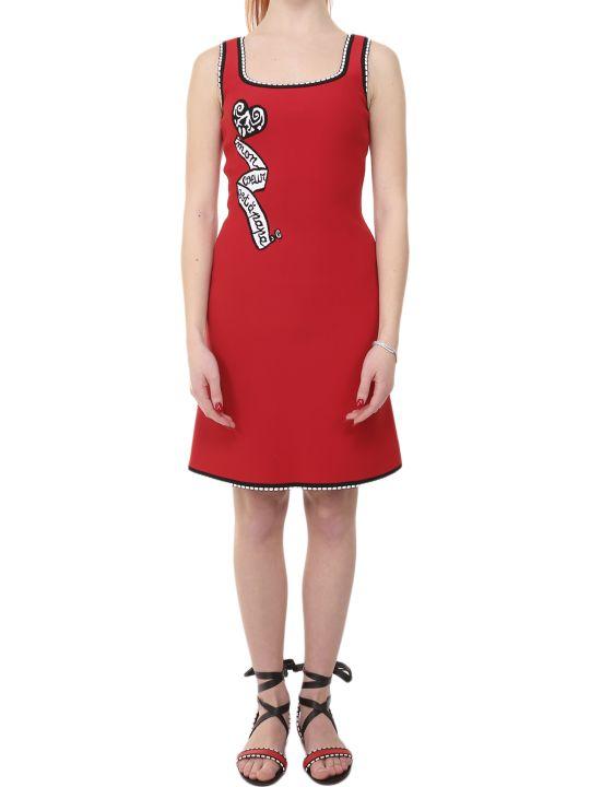 Alaia Azzedine Alaia Red Mon Coeur Mini Dress