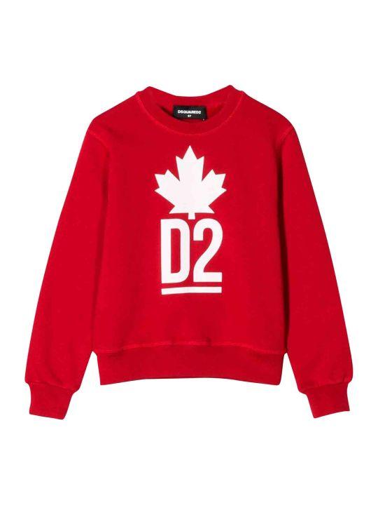 Dsquared2 Dsquared2 Red Sweatshirt Kids Teen