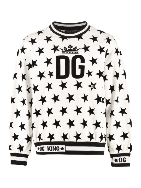 Dolce & Gabbana Printed Cotton Sweatshirt