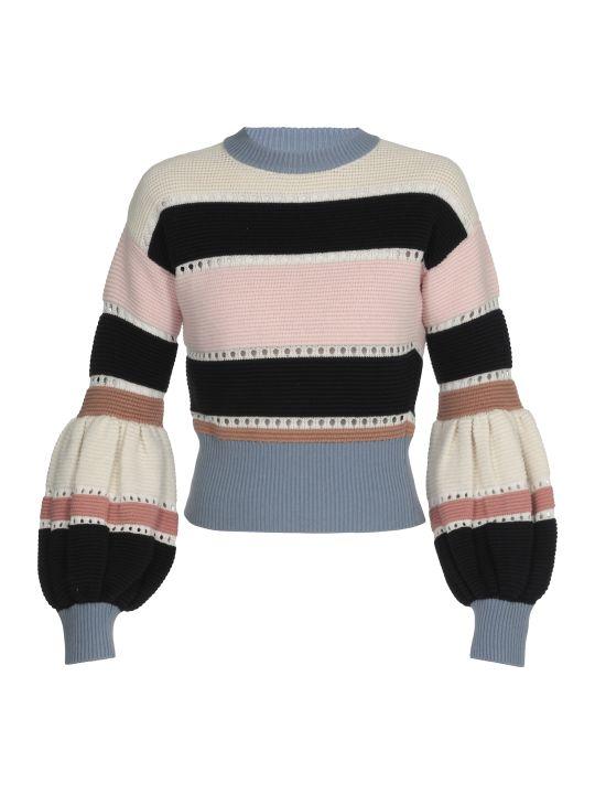 self-portrait Multi Striped Knit Sweater