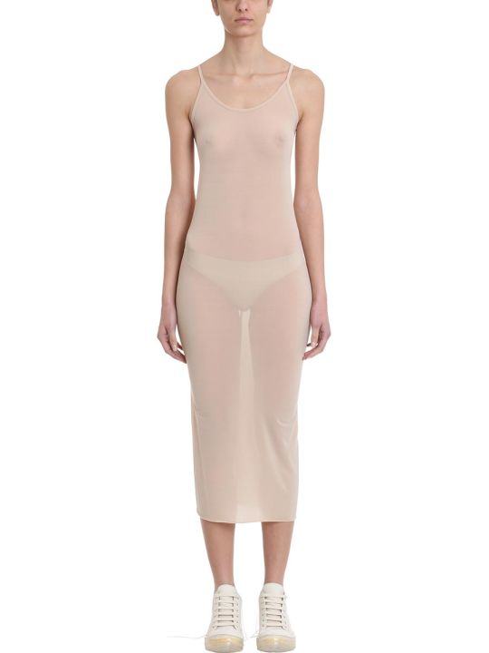 Rick Owens Lilies Nude Viscose Slip Dress
