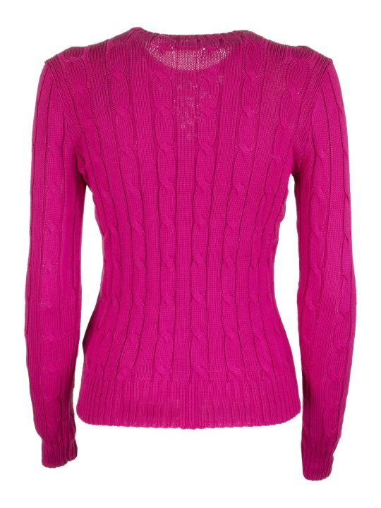 Ralph Lauren Beaded Pony Cable-knit Sweater