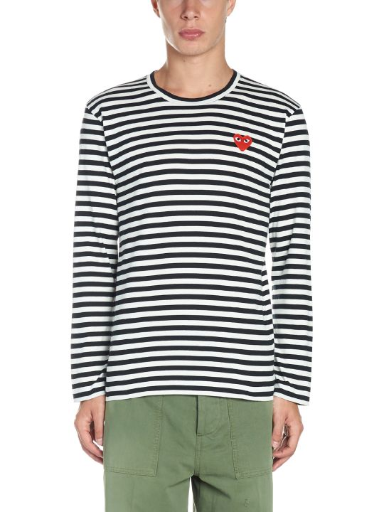 Comme des Garçons Play 'play Stripes' T-shirt