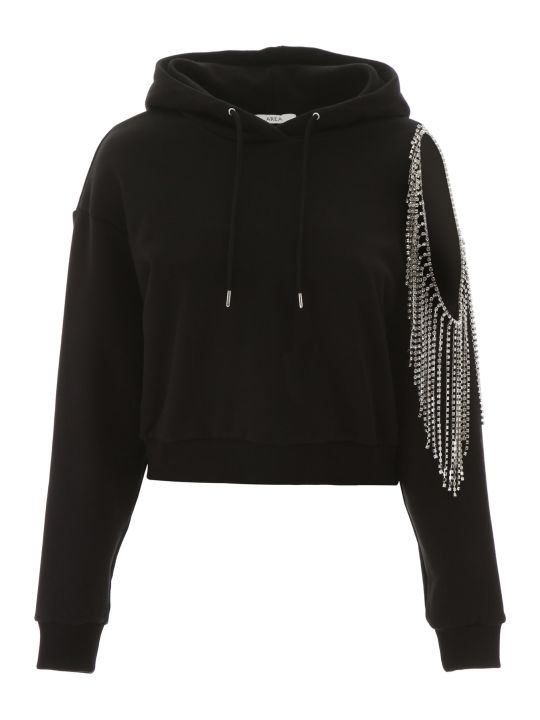 AREA Cropped Decorated Hoodie