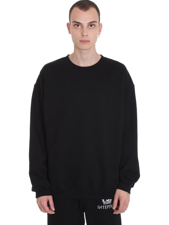 VETEMENTS Sweatshirt In Black Cotton