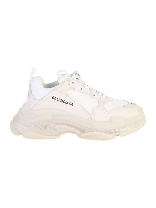 Balenciaga Triple S Leather And Fabric Sneakers
