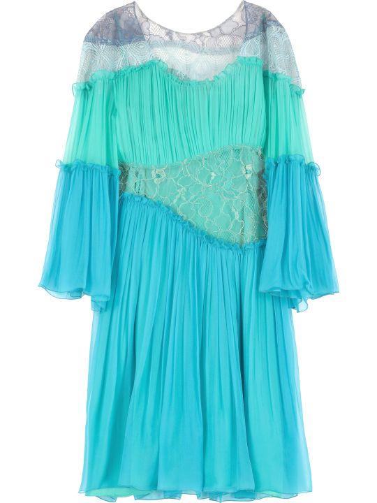 Alberta Ferretti Asymmetric Mini Dress