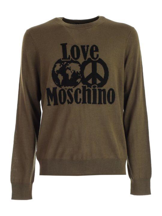 Love Moschino Sweater L/s W/love Logo