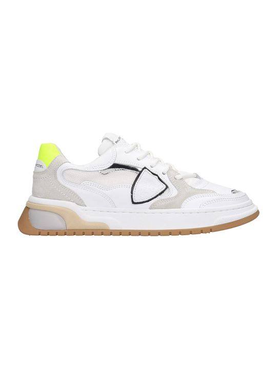 Philippe Model Saint Denis Sneakers In White Leather