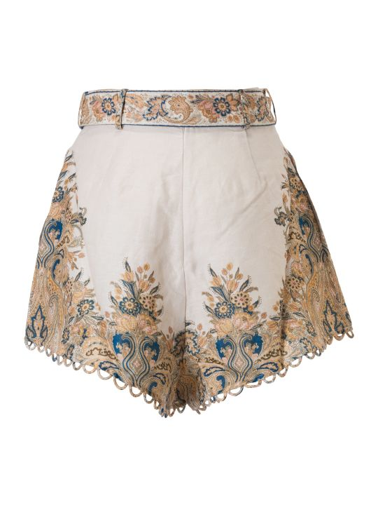 Zimmermann Embroidered Shorts