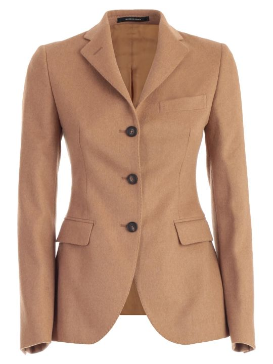 Tagliatore Coat Single Breasted W/slits And 3 Buttons