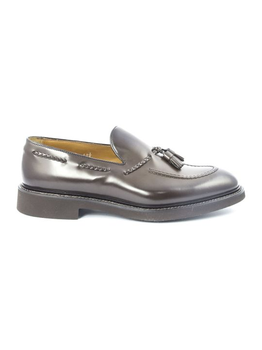 Doucal's Brown Tassel Leather Loafer