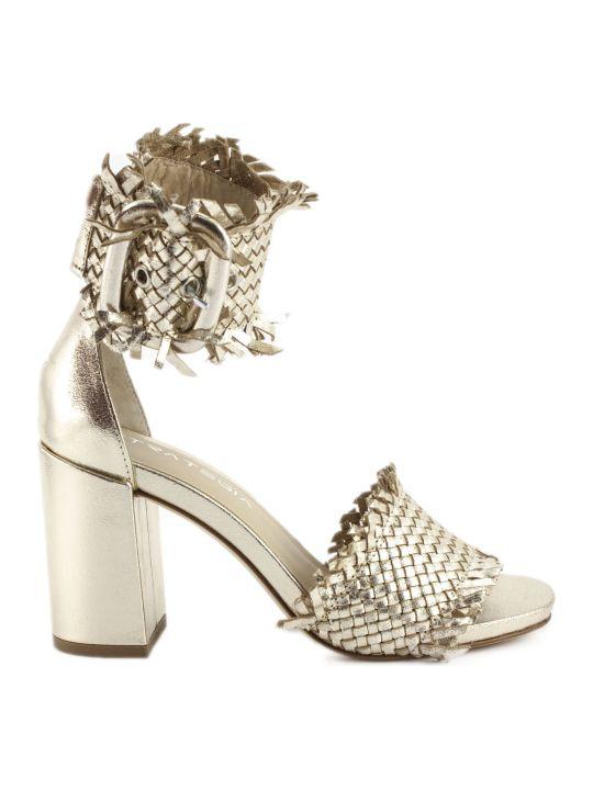 Strategia Platinum Leather Sandals