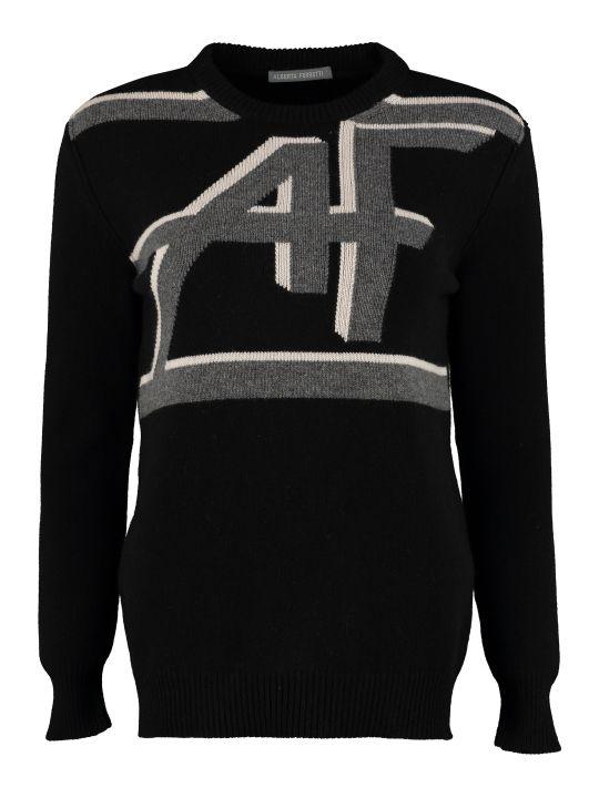 Alberta Ferretti Intarsia Wool And Cashmere Sweater