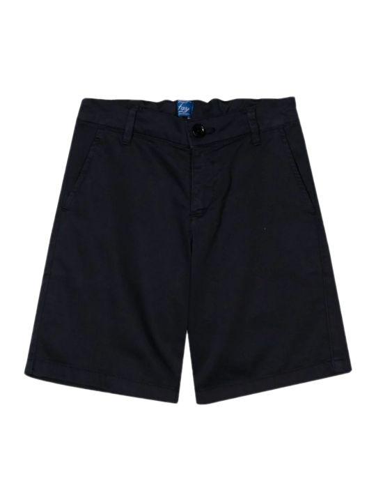 Fay Black Stretch Cotton Shorts