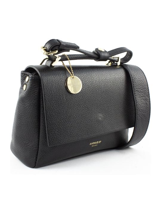 Avenue 67 Elettraxs Black Leather Bag