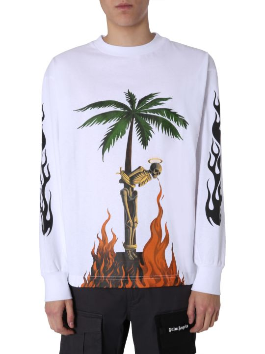 Palm Angels Burning Skeleton T-shirt